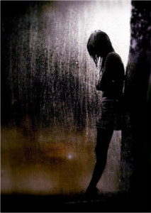 howl sad girl rain